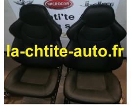 LOT DE 2 SIEGES AIXAM GTI / GTO