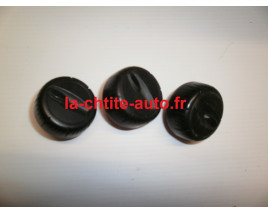 LOT DE 3 BOUTONS DE VENTILATION AIXAM SENSATION